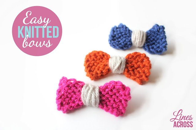 Easy Knitting : Easy Knitted Bows