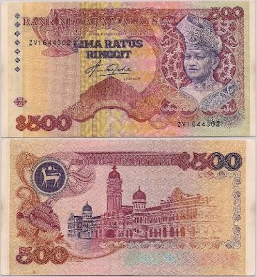 wang kertas not RM500