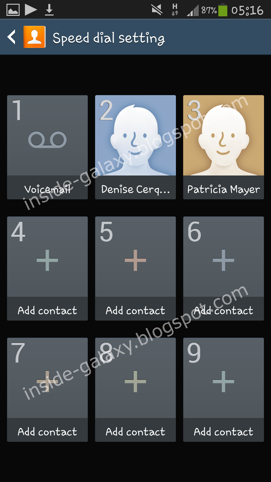 How to assign a contact to a speed dial key?