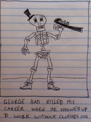 the skeleton is an entertainer