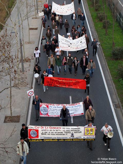Manifestación CAP Guineueta