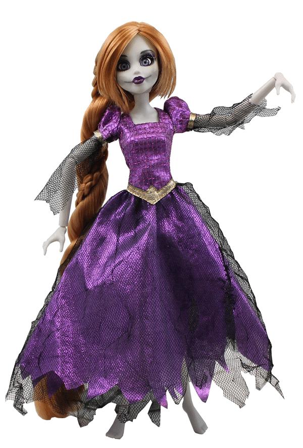 Princesa zombie Rapunzel