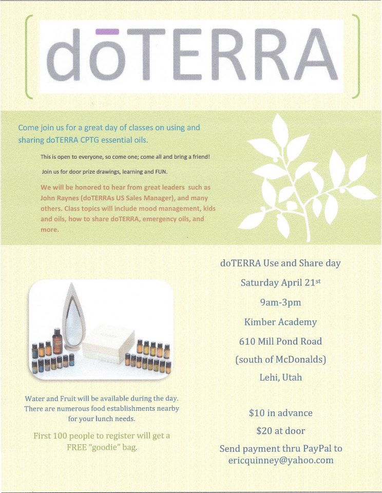 Doterra Essential Oils Flyer | www.imgkid.com - The Image ...