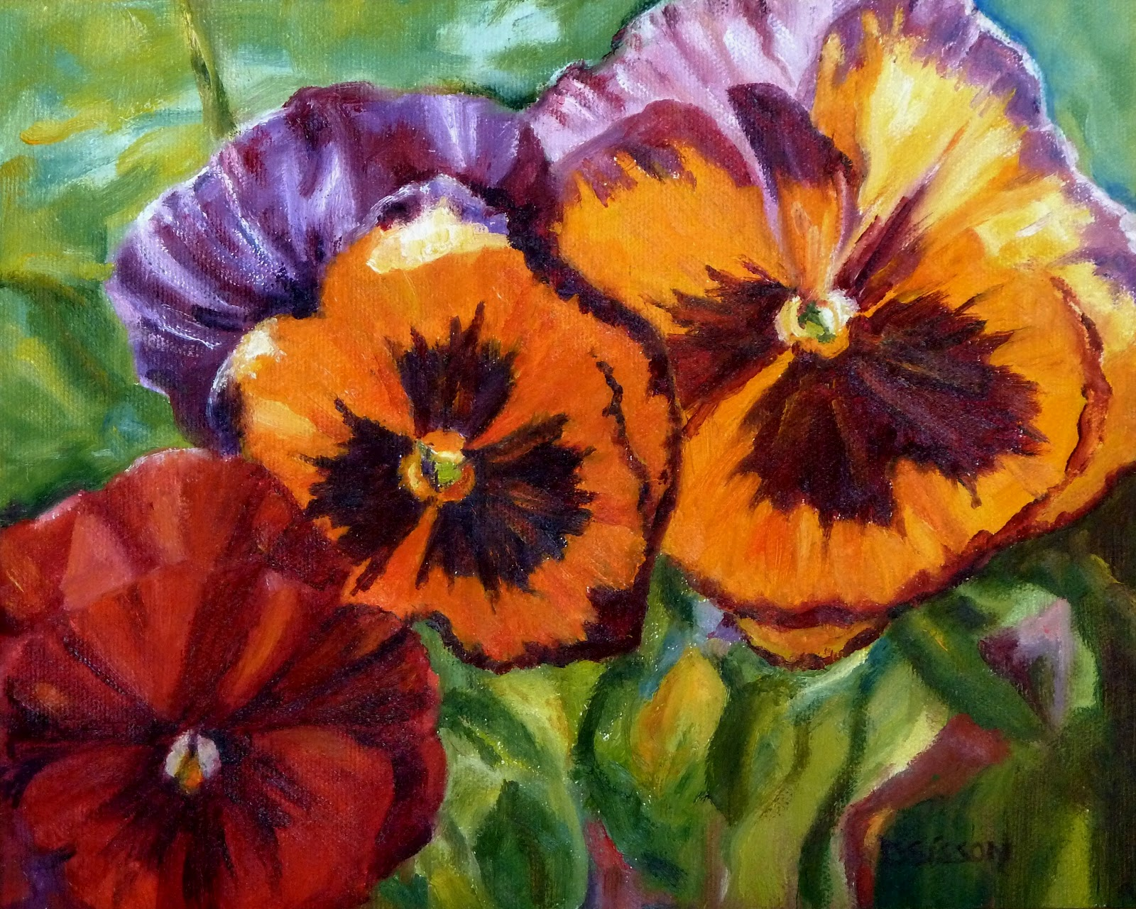 Pictures of paintings of flowers beautiful flowers for How to oil paint flowers