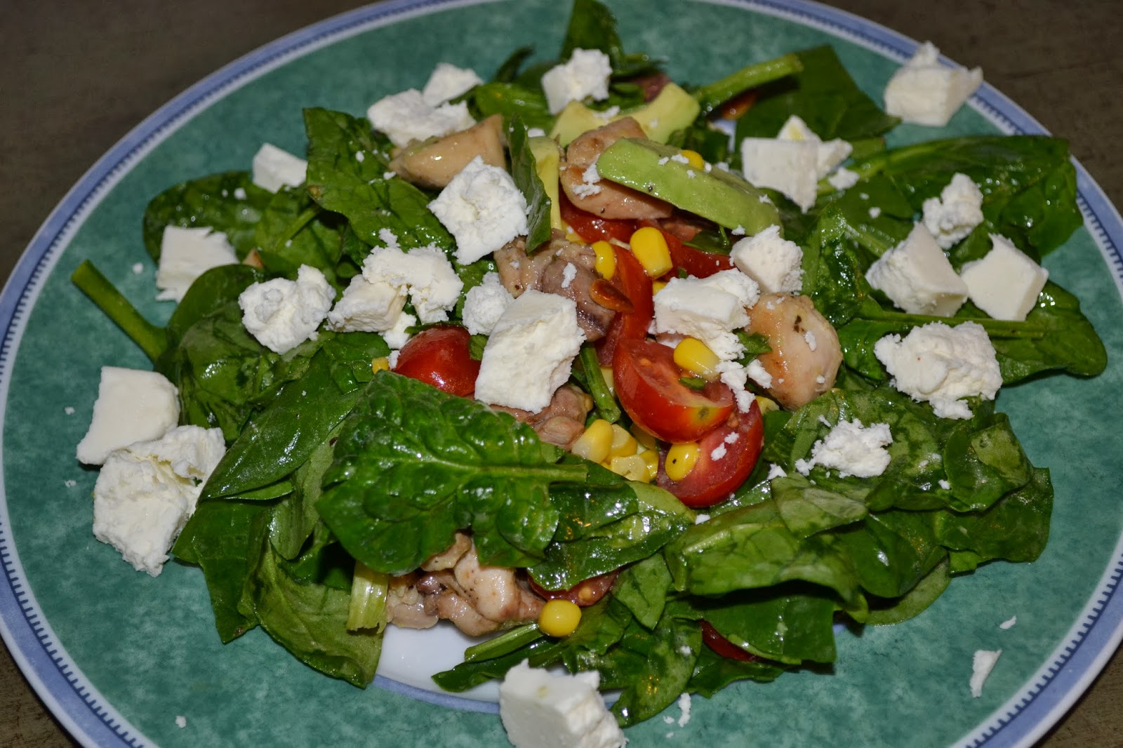 ... Recipe Reviews: Spinach Salad with Chicken, Avocado and Goat Cheese