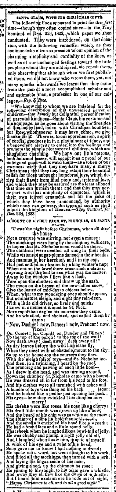 Melvilliana more testimony from orville l holley for clement c more testimony from orville l holley for clement c moores authorship of a visit from st nicholas aka the night before christmas fandeluxe Choice Image