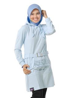 blus muslim warna putih