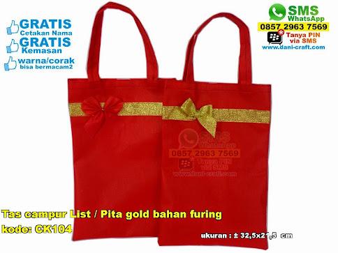 Tas Campur List Pita Gold Bahan Furing