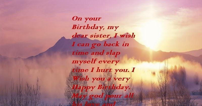 Happy Birthday Step Sister