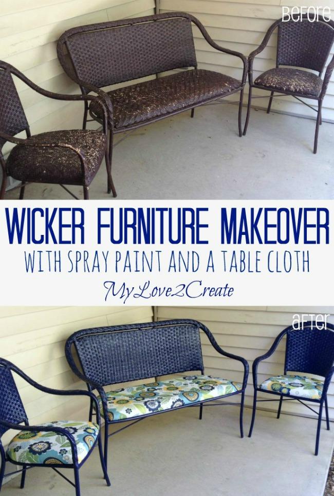 MyLove2Create, Wicker Furniture Makeover