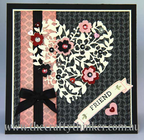 SU, Timeless Elegance, Square card, Black & pink