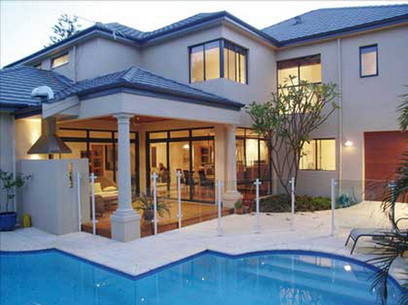 House designs photos of models building exterior design for Pool exterior design