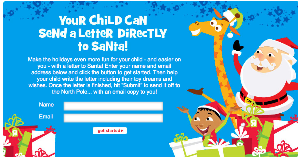 Have your child mail their own letter to Santa