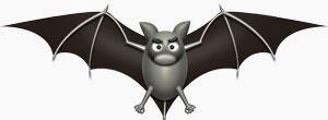 ハロウィンのイラスト・翼を広げたコウモリ