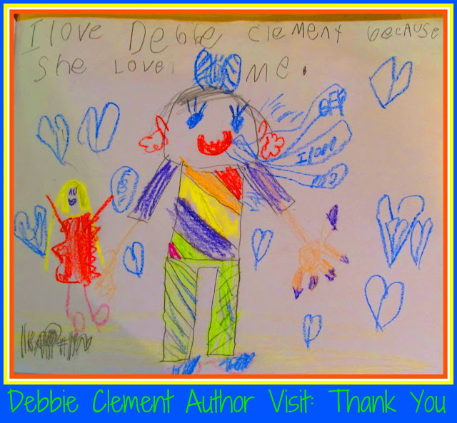 Photo of: Kindergarten Thank You Letter and Drawing following Debbie Clement author visit