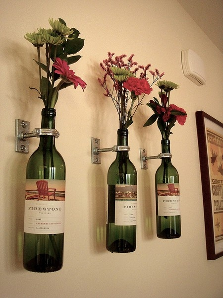 Dishfunctional designs glass bottles upcycled for Recycled decoration