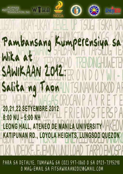National Conference on Sawikaan 2012 - Mga Salita ng Taon