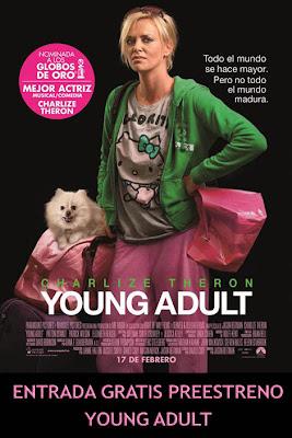 Sorteo Express entrada preestreno Young Adult