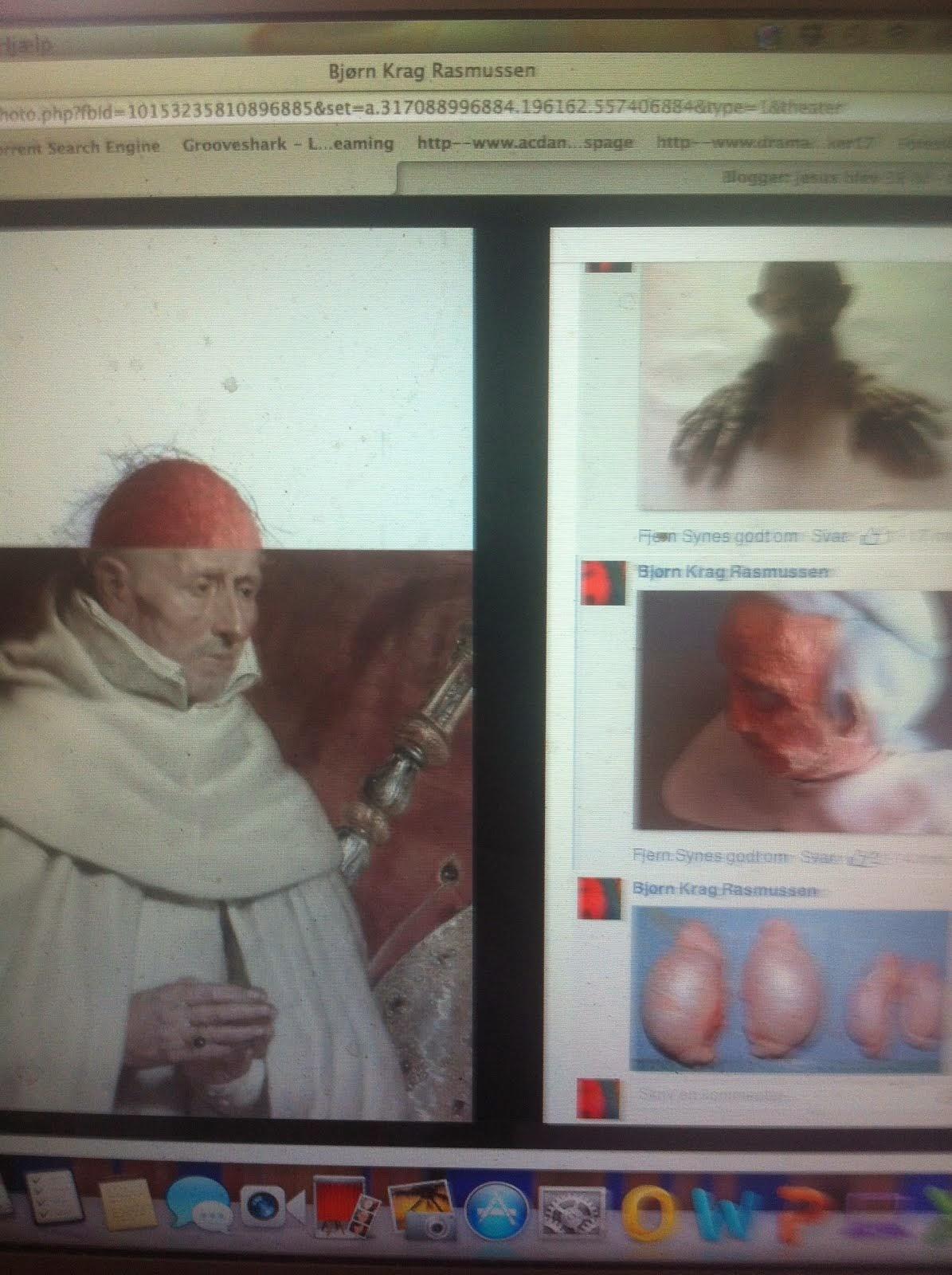 ikke at jeg er paven