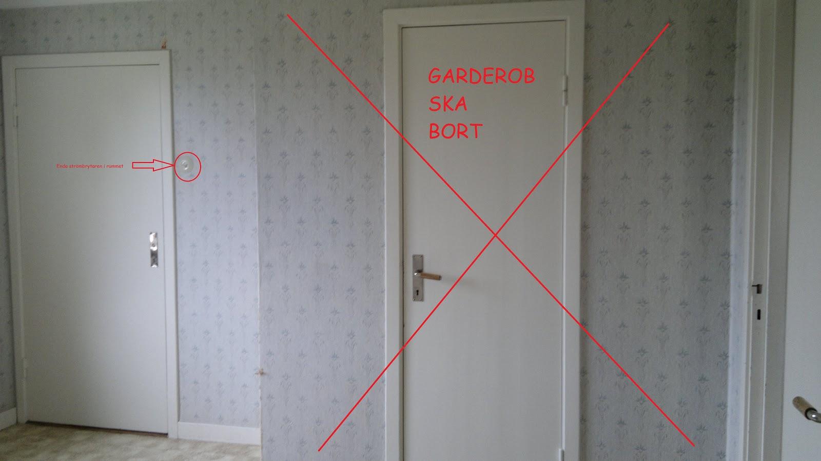 Hinnagården: renovering sovrummet