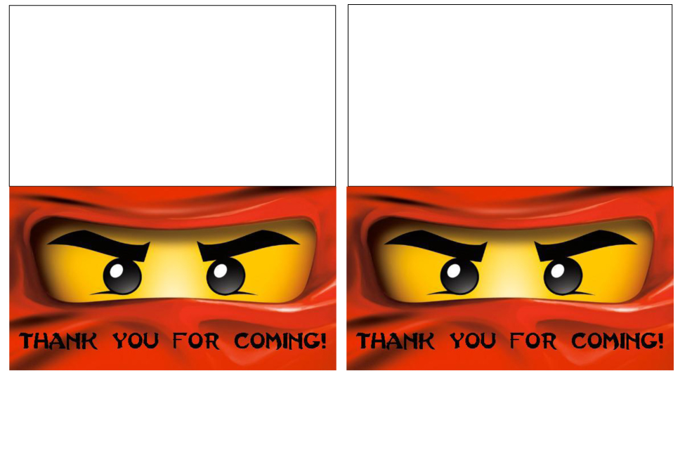 Ninjago Printables http://www.serbagunamarine.com/craft-interrupted-ninjago-party-printables-you-can-make-them-too.html