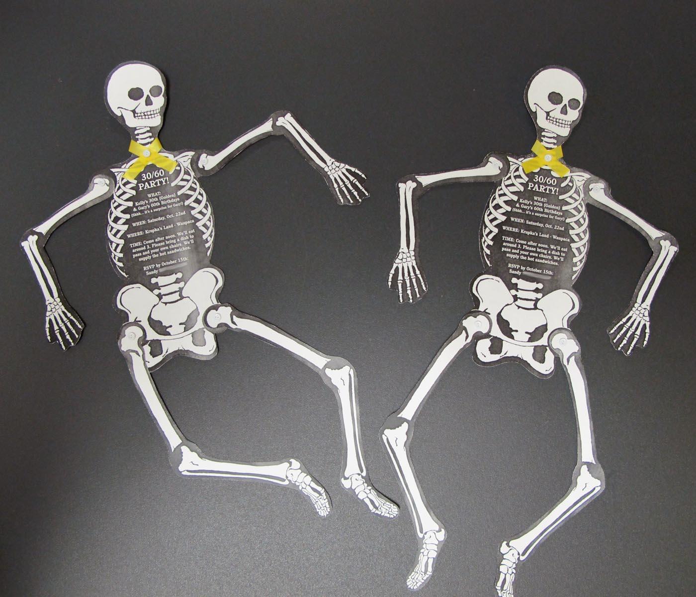 Skeleton Birthday Party Invites   Adventures with Kelly