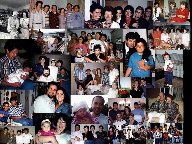 Uno de los  álbumes de Familia de Libia Ossa Cárdenas De la Pava. Fotos de los años 60 - al - 2000