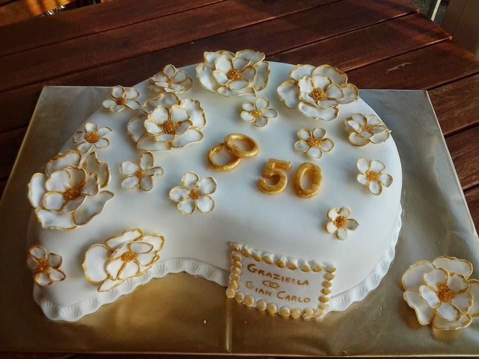 idee per decorazioni torte nozze d oro cotto e postato