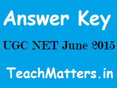 image : UGC NET June 15 Answer Keys @ www.teachmatters.in