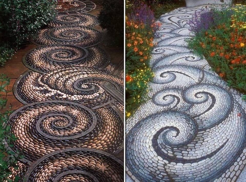 pedra jardim caminho:Art & Art: Caminho de jardim = Mosaico de Pedras