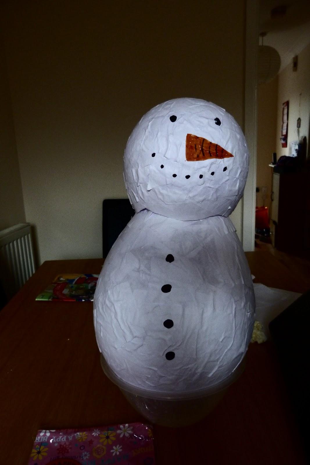 an ordinary life make your own snowman pi ata. Black Bedroom Furniture Sets. Home Design Ideas