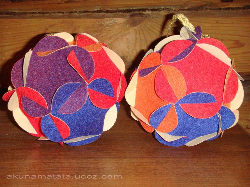 как сделать из картона шар своими руками