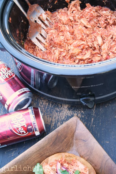 Dr. Pepper Shredded Chicken