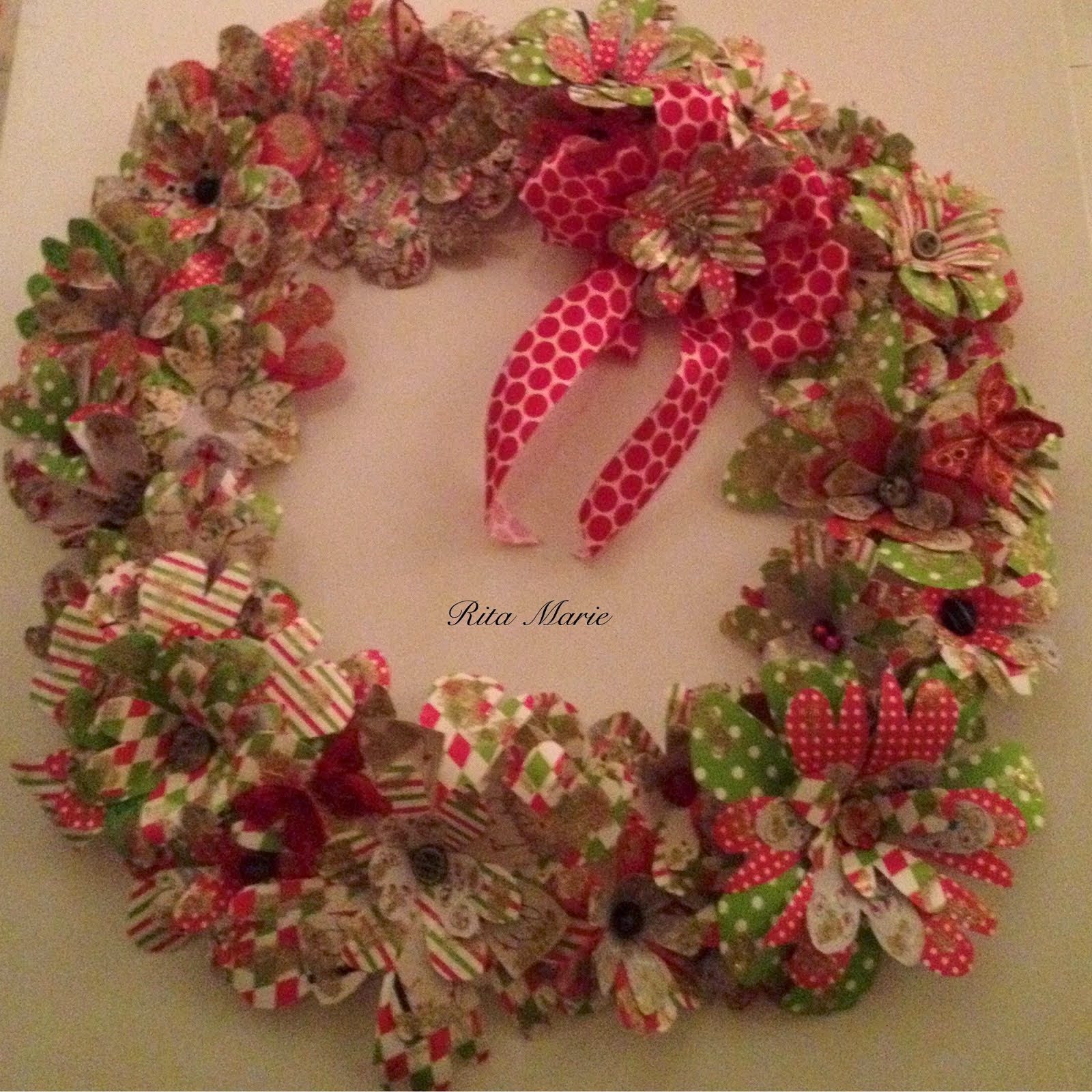 Paper Flowers Christmas Wreath Video