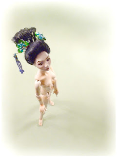 Porcelain geisha ball jointed doll