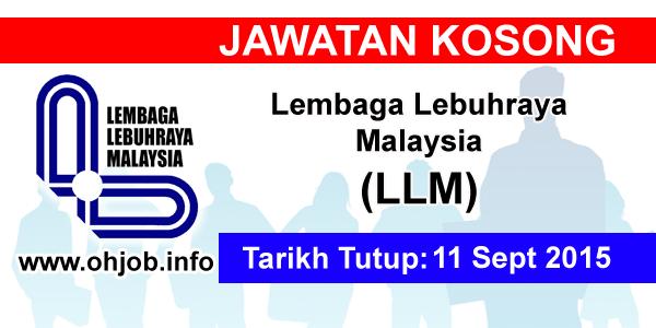 Jawatan Kerja Kosong Lembaga Lebuhraya Malaysia (LLM) logo www.ohjob.info september 2015