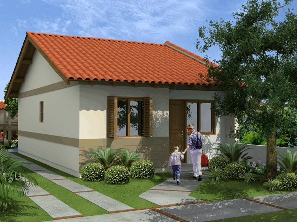 Casas pequenas e bonitas auto design tech for Fachadas bonitas para casas pequenas