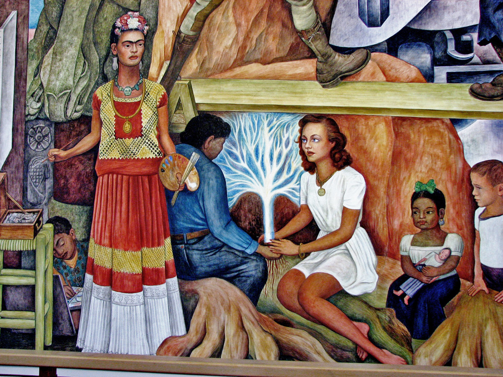 Murals by diego rivera for Diego rivera creation mural