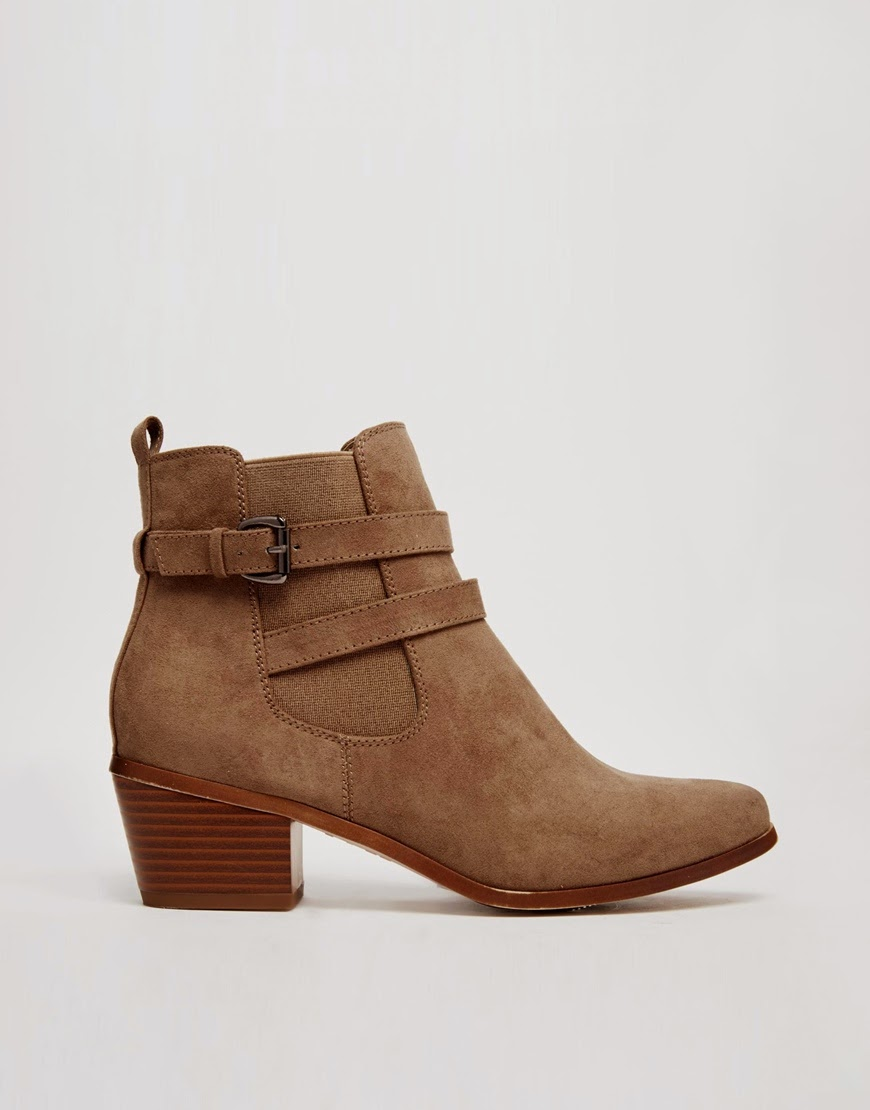 new look strap ankle boots, new look beige suede boots,