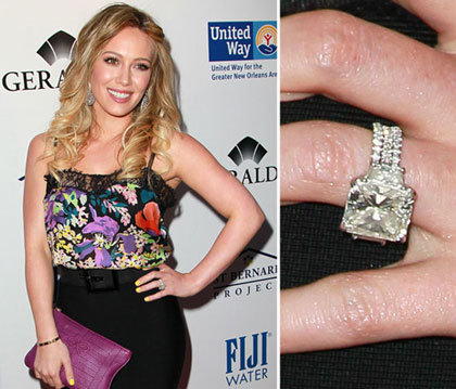 Hilary Duff 14 Kt Large Diamond Ring.