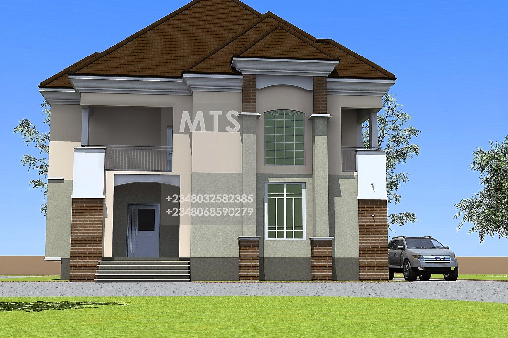 Front cover 4 bedroom duplex residential homes and for 4 bedroom duplex design