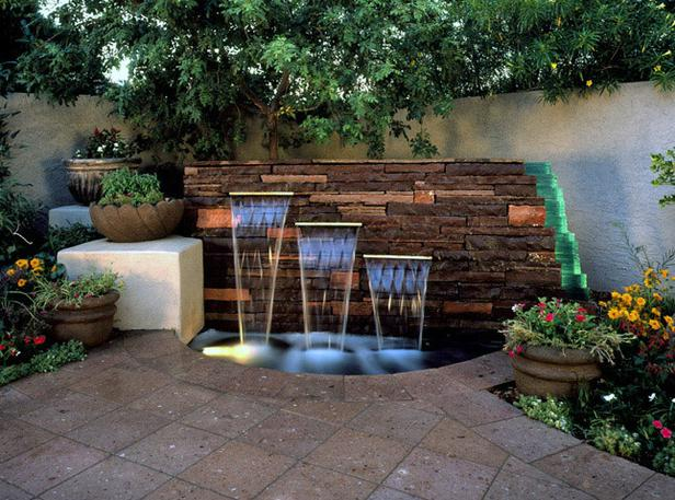 Amazing Water Feature Ideas Garden Clips: water fountain landscaping ideas
