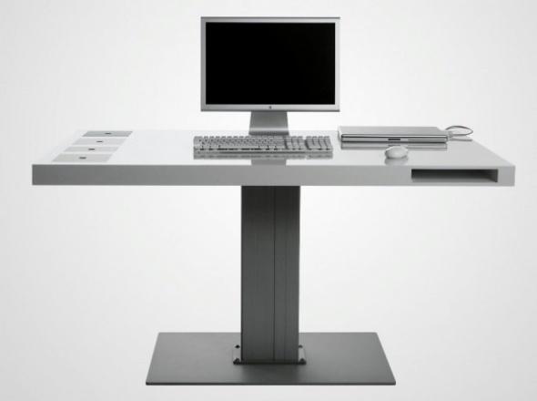 Modernos escritorios minimalistas para espacios reducidos for Bureau ultra design