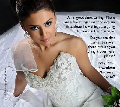 Femdom bride of course