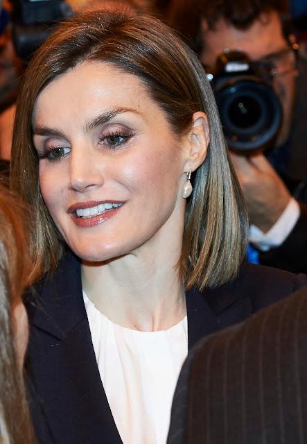 Queen Letizia of Spain attended the Opening of Internacional Tourism Fair (FITUR) at Feria de Madrid