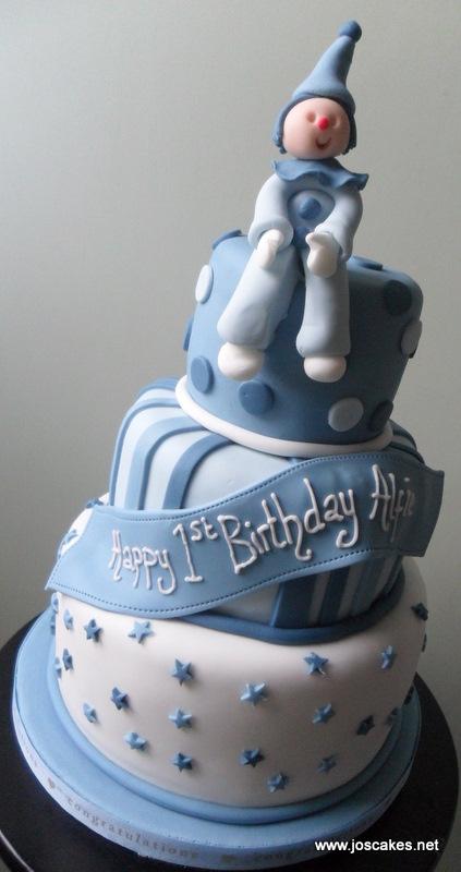 Jos Cakes Three Tier 1st Birthday Cake
