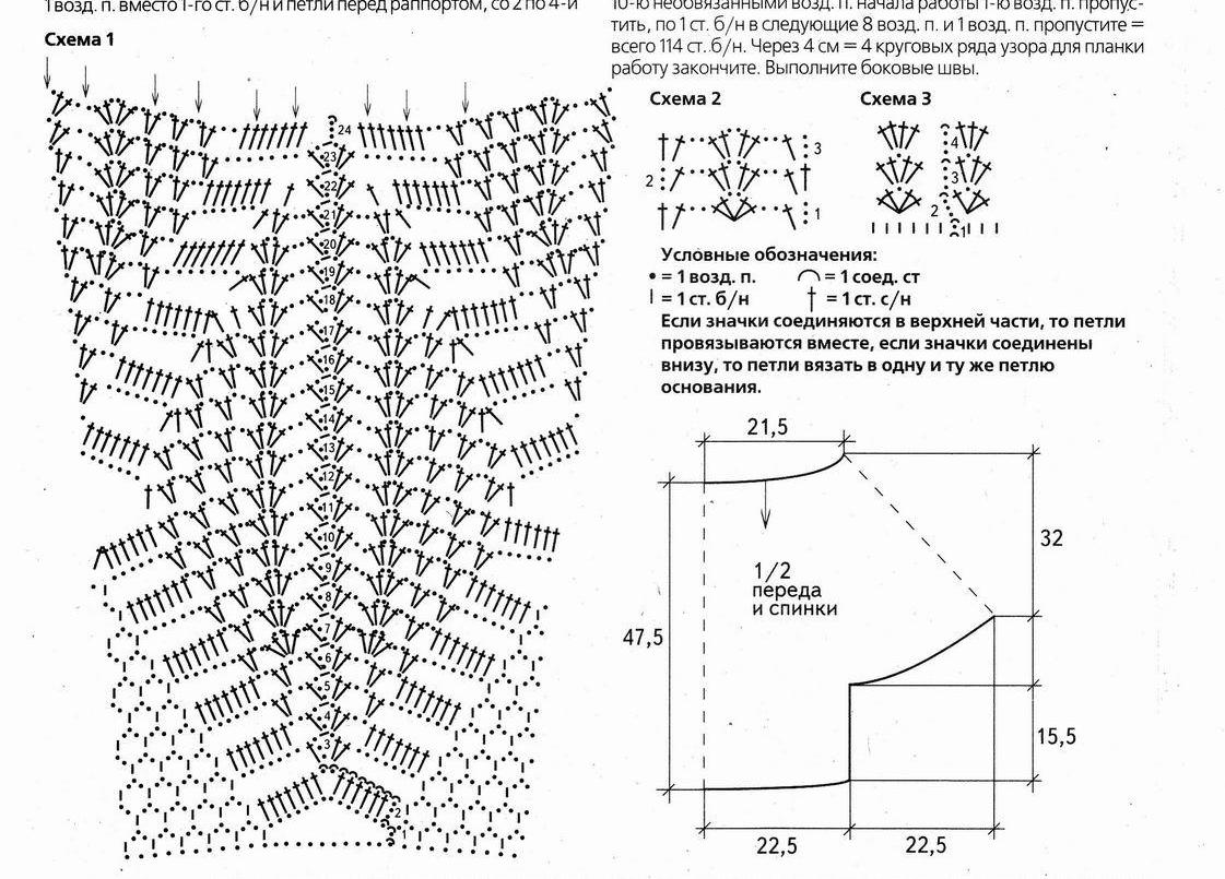 Вязание крючком модели с подиума схемы 4