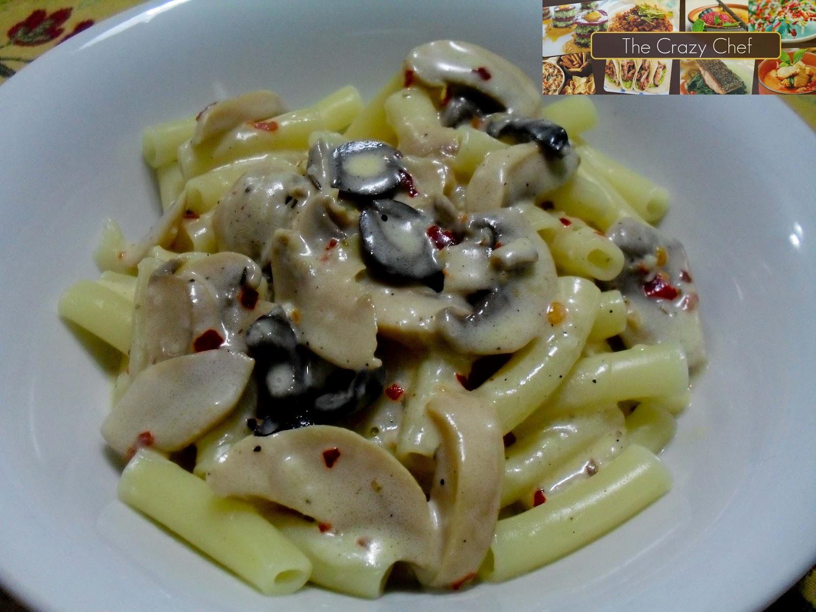 The Crazy Chef: Creamy Mushroom Pasta