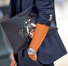 Givenchy Rottweiler clutch bag