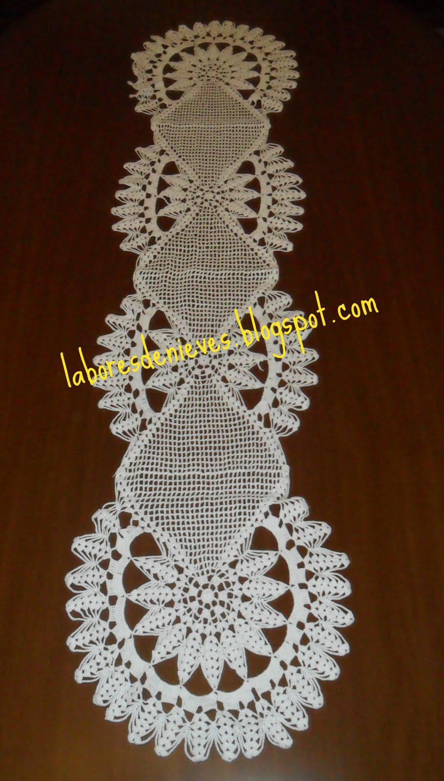 Patrones de tapetes centros de mesas tejidos a crochet - Tapetes para mesa ...